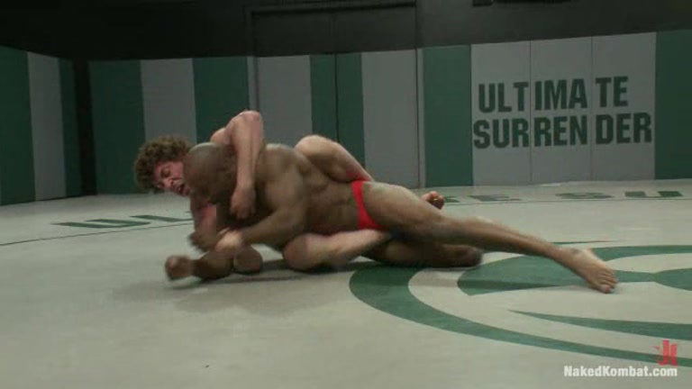 Gay male interracial wrestling