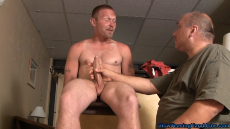 Bound men handjob