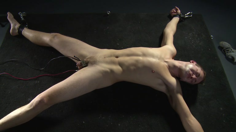 Real, male bondage slaves torture little titts