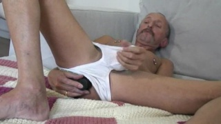 Dildo Daddy Jerking Off