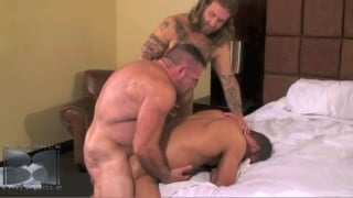 thick bare cock into Chris's puckered ass crack