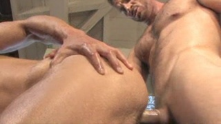 blond guy fucked by his older rugged companion