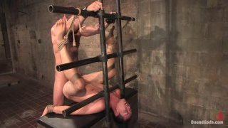 Hooded slave gets used