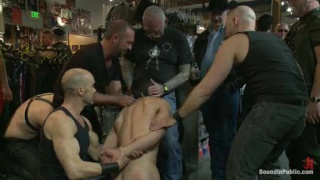 Bound Guy Gang Fucked