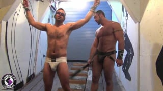 Hairy Muscle in Bondage