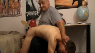 Daddy Spanking with a Brush