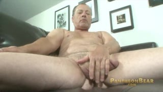 Daddy Bear Jerking Fat Cock