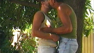 Mature Co-workers Suck Outdoors