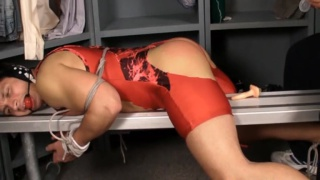 Wrestler's Ass Violated In Locker Room