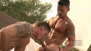 Hunks Jay Roberts and Adriano Carrasco Suck and Fuck Outdoors