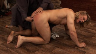 Blond Muscle Guy Spanking