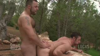 Power-Bottom Brandon Jones Rides Nick Ford's Hard Cock