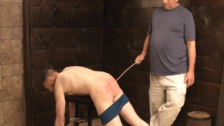 Unemployed Guy's Riding Crop Spanking