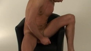 Ripped Brit Jerk Off