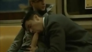 SUCKING MONSTER COCK AT TRAIN