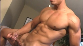 Ripped Latin Hunk Beating Off