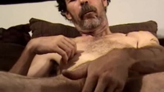 Hairy Man Gregory Jerking Off