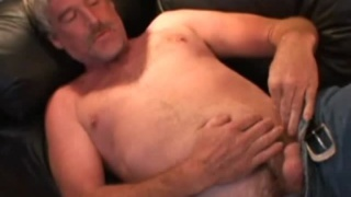 Beefy Blond Daddy Jacks Off