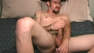 Ass teasing cowboy jacks off