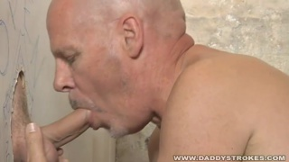 Hot Daddy Jerking And Sucking Gloryhole Cock