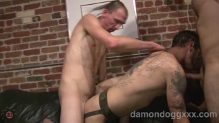 Riley Anders with Dane Caroggio and Damon Dogg