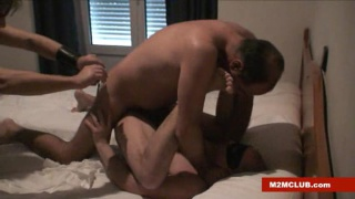 Amateur Latino Guys in Bareback Threesome