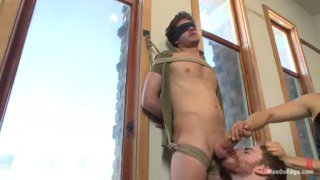 Straight Boy Nervous about Getting Edged by 2 Guys