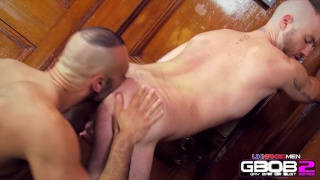 Hairy Studs Fuck in a Bar