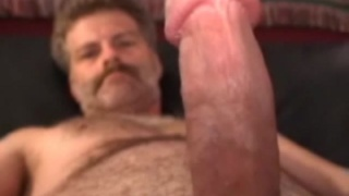 Hairy Man Mike Jerking Off