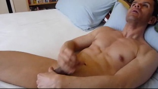 Horny Latino Stroking Big Brown Uncut Cock