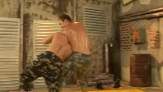 Military wrestling and fucking 2