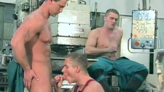 Factory orgy fuck