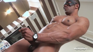 sexy black hunk flex