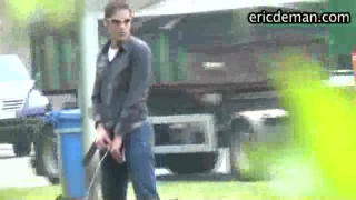 guy pissing at motorway rest stop