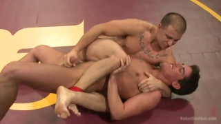 Jett Jax vs Eli Hunter Naked Wrestling