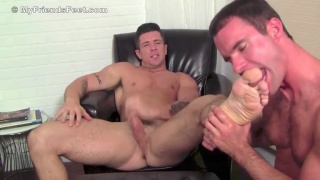 Cameron serviced Trenton Ducati's feet