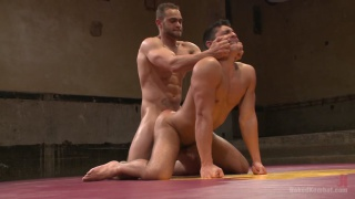 brock avery vs seth santoro in naked wrestling
