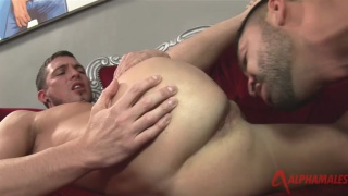 Dominic Pacifico and Sam Barclay suck rim and fuck