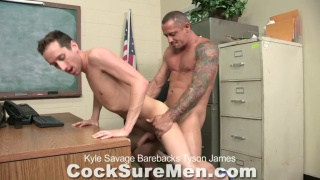 Kyle Savage and Tyson James barebacking