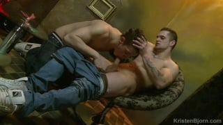Muscular lovers Lucas Pribyl and Milos Zambo