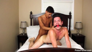 Twink gets gagged