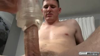 Helping hand stroking his cock