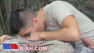 Airman gets his first gay blowjob