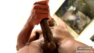 black stud Scottie jerks off