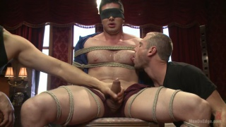 Liam Santiago tied up and cock edged