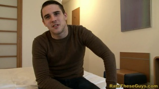 Shy nervous amateur hunk Pete strips on camera