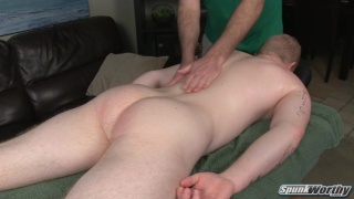 Redhead Perry gets massaged