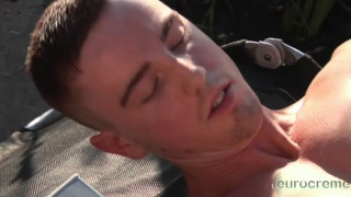 JP Dubois jerks off outdoors