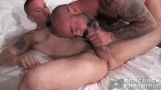 Scotty Rage and Max Cameron at bareback that hole