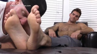 Chase's First Foot Worshiping